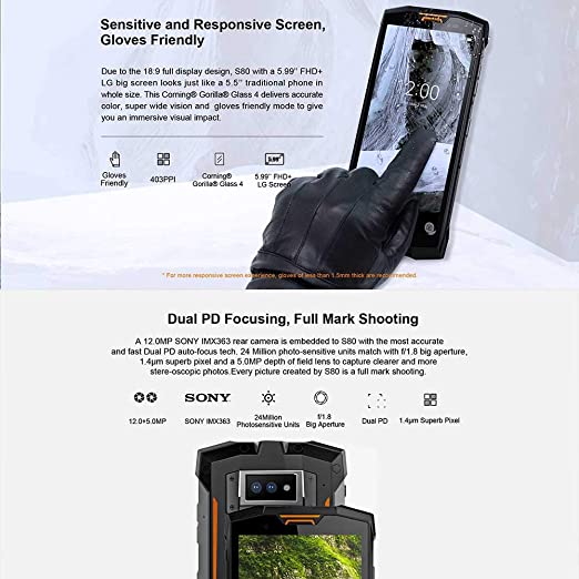 Doogee S80 teléfono móvil 5,99 pulgadas 6GB RAM 64GB ROM helio de ...