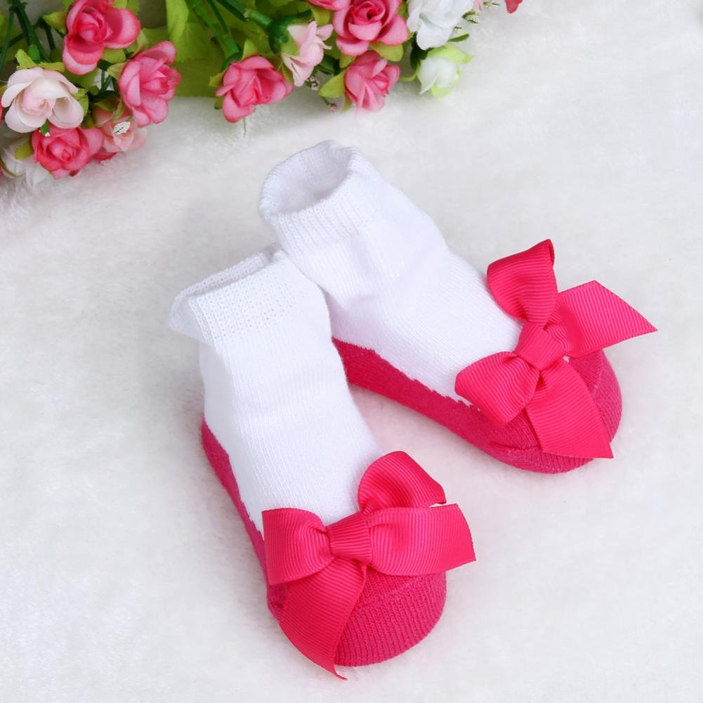 Suit for 0-2 Years old,DIGOOD Toddler Baby Girls Boys Cute Bowknot Non-slip Warm Floor Socks