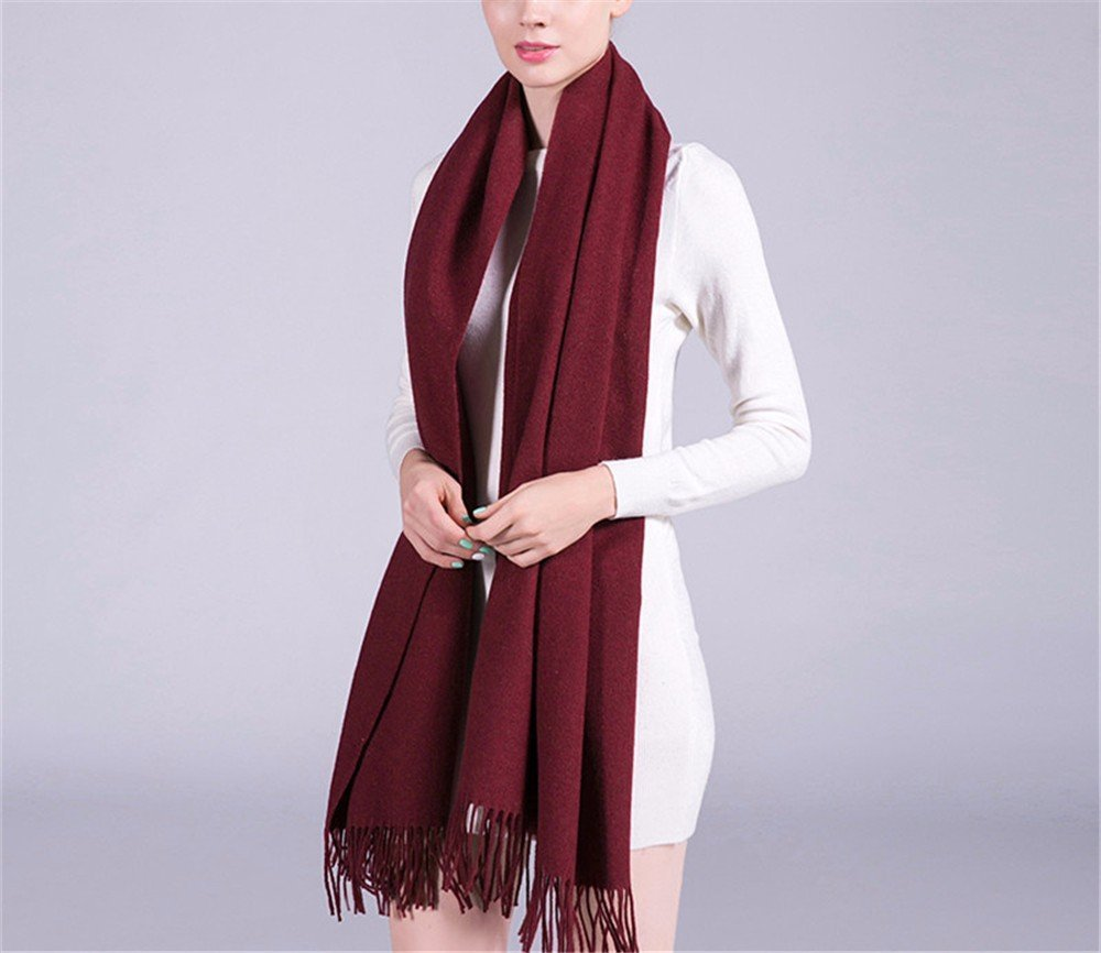DIDIDD Bufanda de espesar bufanda de lana damas invierno y el invierno sala de aire acondicionado cálido chal,K