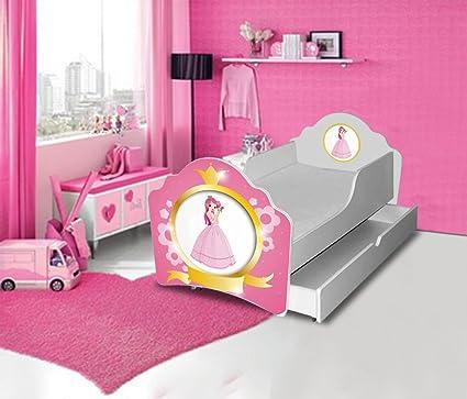 Cama infantil, diseño de cuadrados de princesa de colchón ...