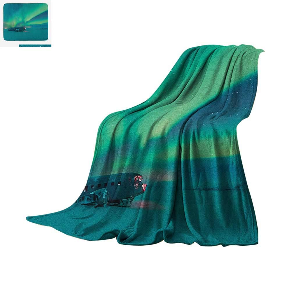 Amazon com: Aurora Borealis Lightweight Blanket Old Plane Wreck