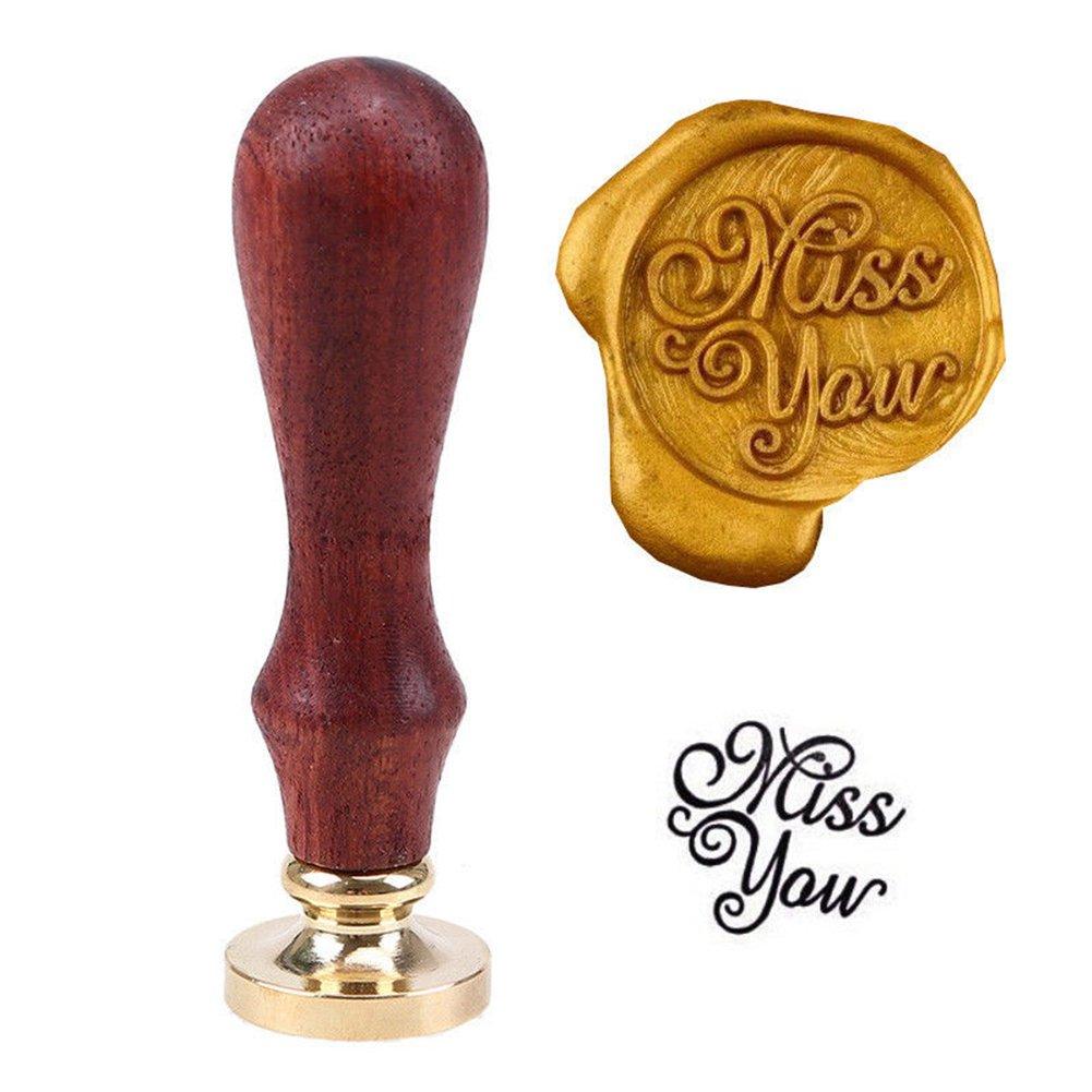 Yiwa Vintage Siegelwachs Stempel Kopf mit Kupfer Kopf f/ür Umschlag Einladungen Hochzeit Dekoration love