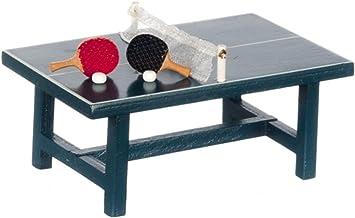Amazon.es: Melody Jane Casa de Muñecas Tenis de Mesa Juego Ping Pong Juego Mesa Miniatura 1:24 Escala Game: Juguetes y juegos