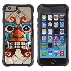 Hybrid Anti-Shock Defend Case for Apple iPhone 5C Inch / Inca Aztec God