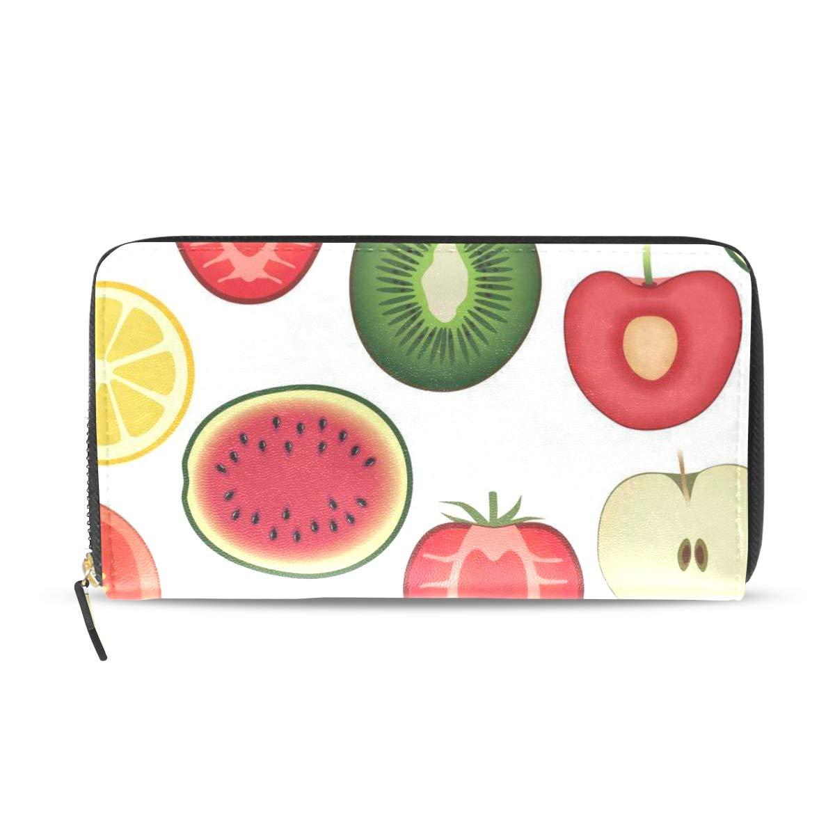 Womens Wallets Apple Cup Cherry Leather Passport Wallet Coin Purse Girls Handbags