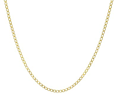 Citerna 9ct Gold 1.6g Curb Chain Necklace RmltKZ