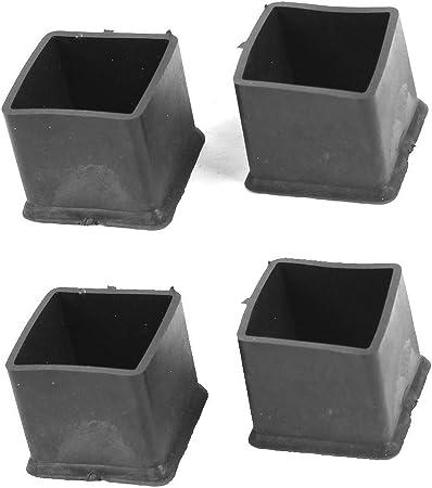 sourcingmap 20mm x 20mm Quadrato Nero Sedia Tavolo Piedini In Gomma Cover 4 Pz