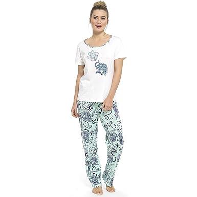 Ladies Tom Franks Checked Print Long Pyjama pajama Sleepwear LN507  Amazon. co.uk  Clothing ca0dbe9bc