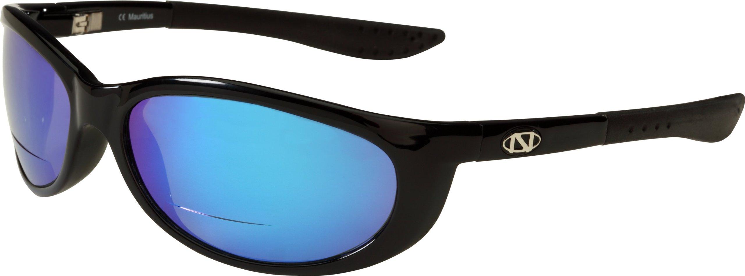 ONOS Petit Boy Polarized Sunglasses (+2 Add Power), Black, Blue/Grey