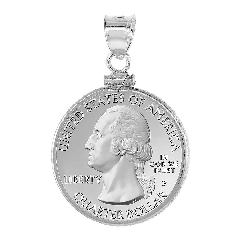 Sterling Silver Quarter Dollar Bezel Image 1