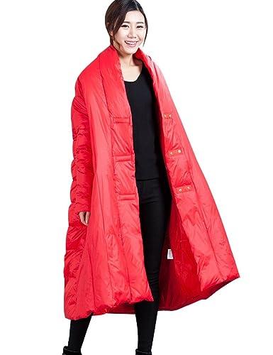 Youlee Mujeres Invierno Cubierto Botones Abajo abrigo