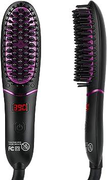 Cepillo alisador de cabello iónico, KeShi 30s de calentamiento rápido, cepillo alisador de cabello de cerámica,