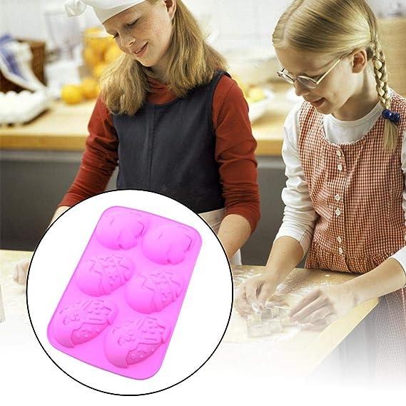 xianjun Molde para Hornear Torta DIY 6 Conejos Imprimir Molde Huevo Pintado Silicona: Amazon.es: Deportes y aire libre