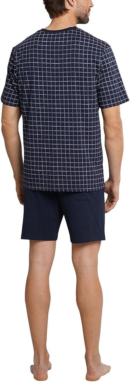 Schiesser Herren Anzug Kurz Zweiteiliger Schlafanzug