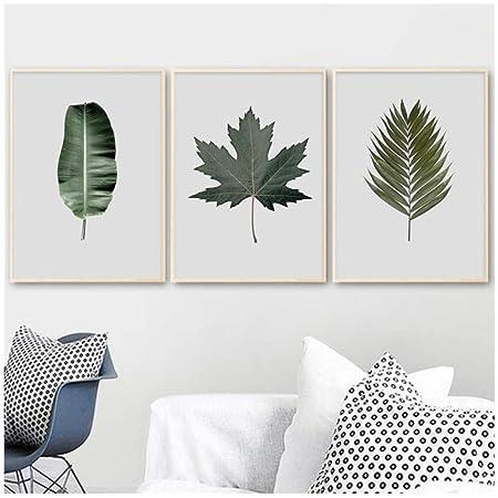 Cartel Plantas tropicales Banano Hojas de bambú Arte de la ...