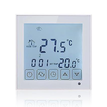 Termostato digital, de la marca Beok, para caldera de gas, con pantalla LCD