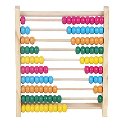 TOYANDONA Abacus Counting Number Frame Wooden Educational Counting Toys Calculation Math Early Educational Toys: Health & Personal Care