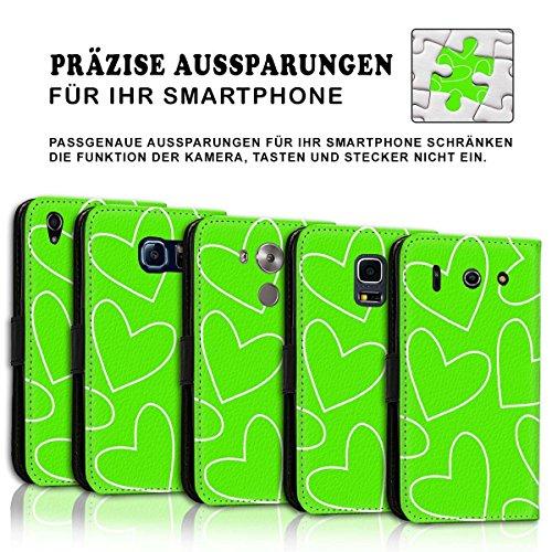 Wallet Book Style Flip Handy Tasche Case Schutz Hülle Schale Motiv Etui für Apple iPhone 5 / 5S - Design Flip MVD222