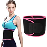 Upgraded Waist Trimmer Weight Loss Wrap Sweat Sauna Slim Belt, Abdominal Trainer, Stomach Fat Burner Red Size (M)