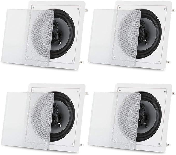 Acoustic Audio CSi83S in Wall//Ceiling 8 Speaker Pair Home Theater 3 Way Speakers