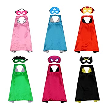 70cm Kids Fun Party Superheros Cape for Children Halloween Costumes Favors Capes