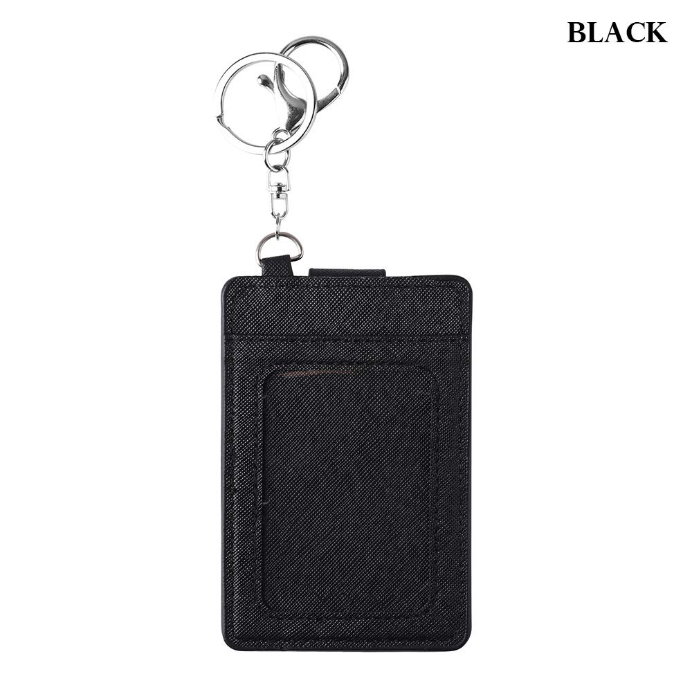 New Multi Color PU Leather Bus Cards Cover ID Card Holder Keyring Tool Badge Case Protective Shell