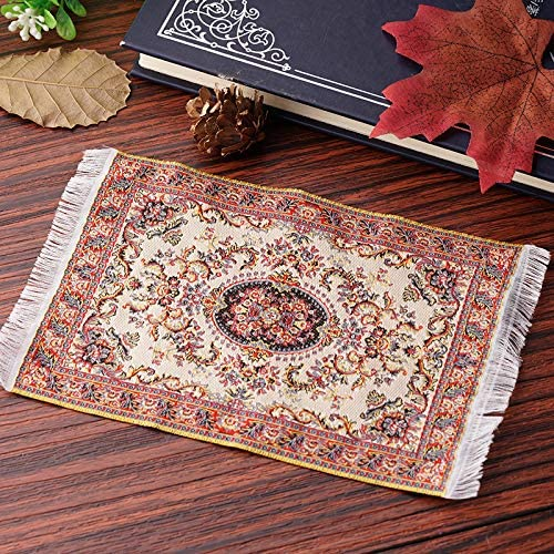 Small Mini Toy Miniature 1//12 Scale Turkish Woven Carpet Blanket Rug Dollhouse Accessories Toy-starry Night Dolls House Accessories