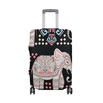 Bohemia Elephant Luggage Cover Elastic Suitcase Protector Fits 18-32 Inch durable service