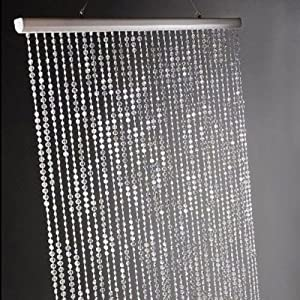 Perfect 3 Ft X 6 Ft Iridescent Faux Crystal Beaded Curtain   Clear By Dpnamron