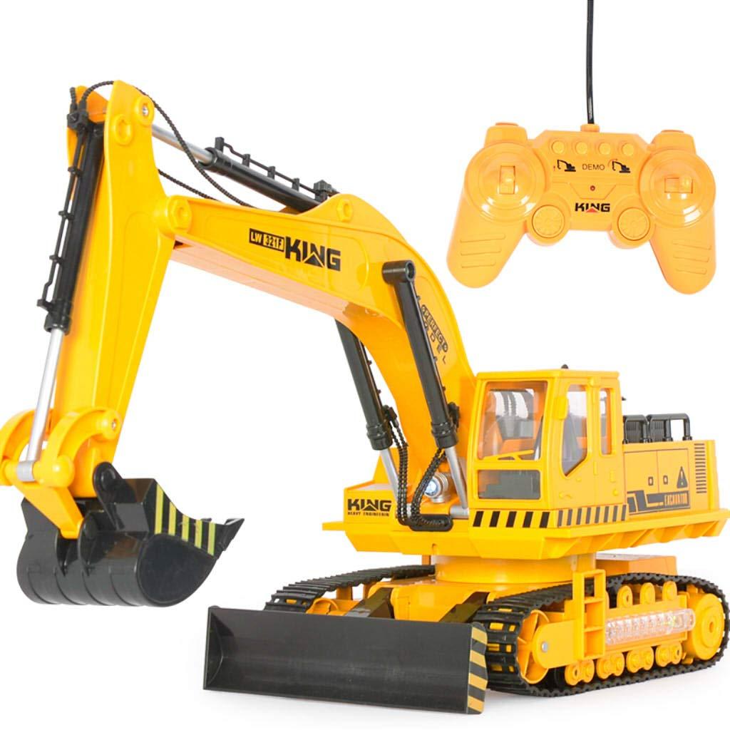 Fenteer 1:18 Ferngesteuerte Elektrisches Auto Bagger LKW LKW LKW Baufahrzeuge Spielzeug mit Soundeffekten & Blinklicht 174d45