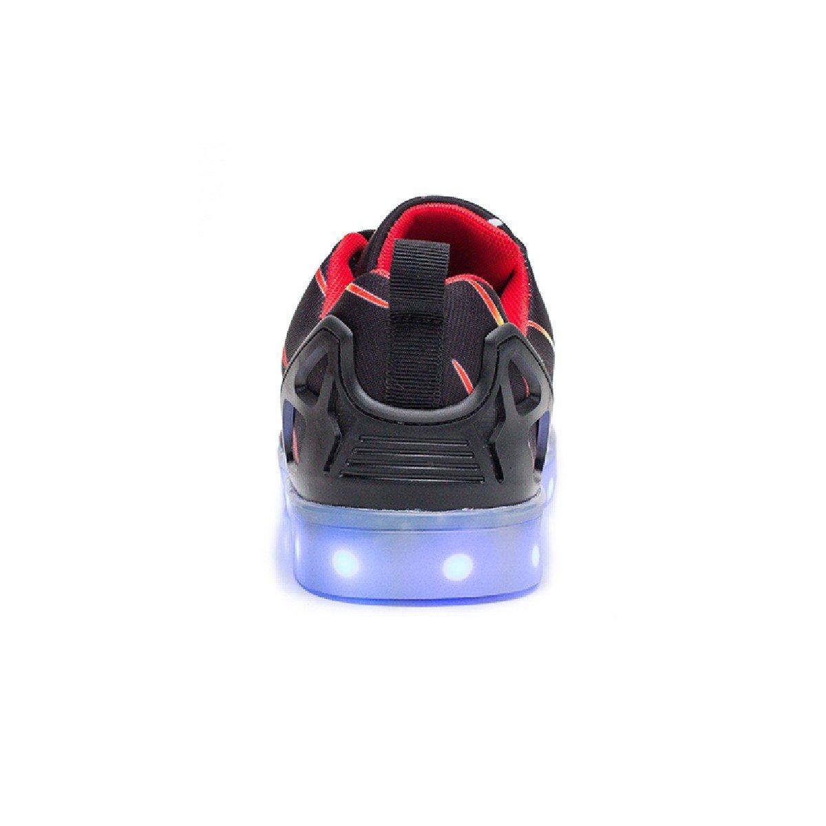 Juren Kid Boy Girl Upgraded USB Charging LED Light Sport Shoes Flashing Fashion Sneakers