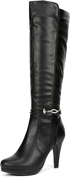 DREAM PAIRS Women's Knee High High Heel Boots