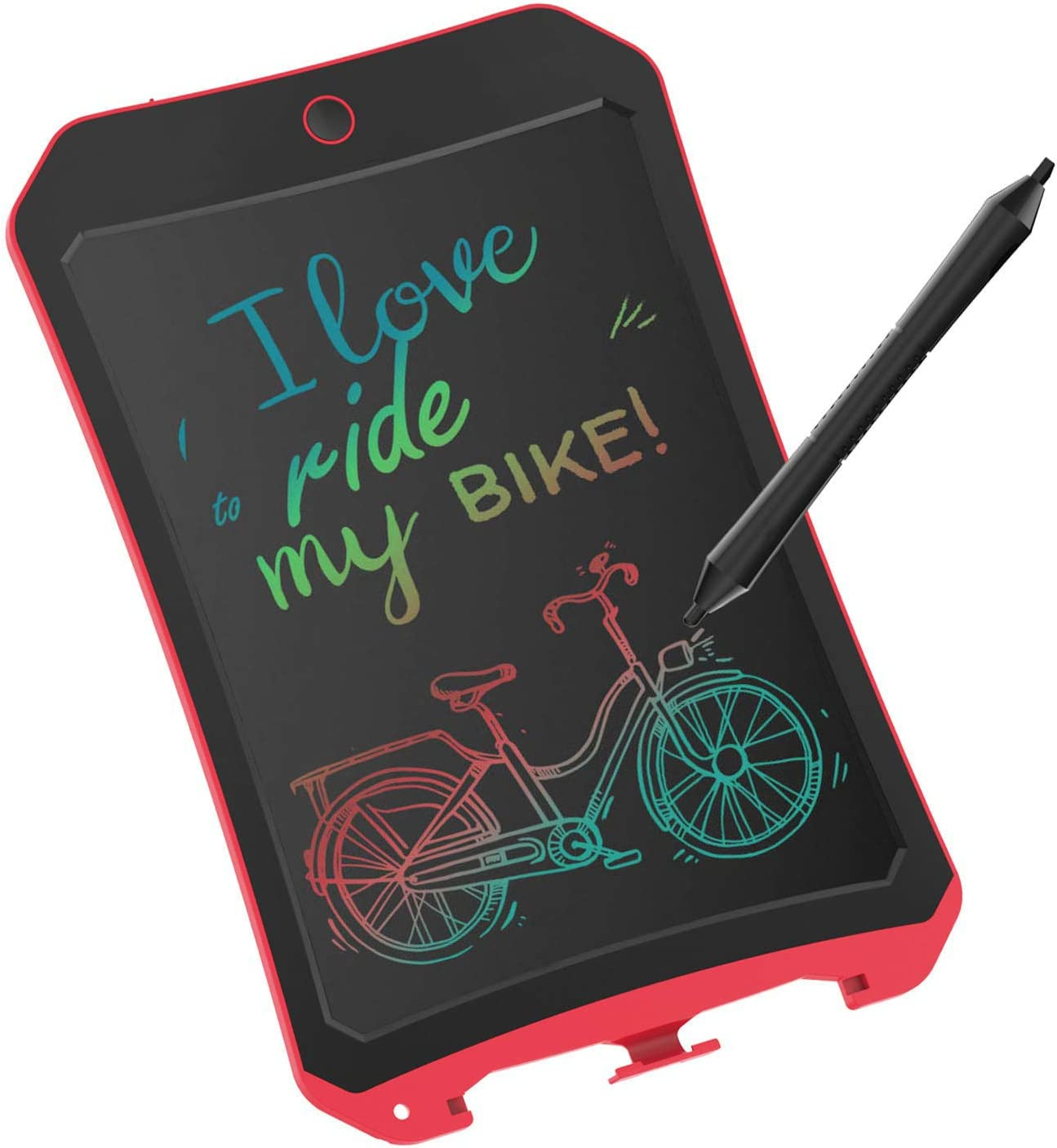 VNVDFLM LCD Writing Tablet for Birthday Gift,Kids Toy 8.5 inch Colorful LCD Writing Tablet Electronic Writings Pads Drawing Board Gifts for Kids Office Blackboard - Erase Button Lock Included(Red)