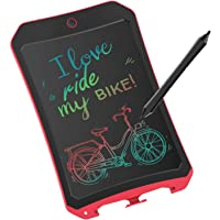 JRD&BS WINL LCD Writing Tablet for Birthday Gift,Kids Toy 8.5 Inch Colorful LCD Writing Tablet Electronic Writings Pads Drawing Board Gifts for Kids Office Blackboard - Erase Button Lock Included(Red)