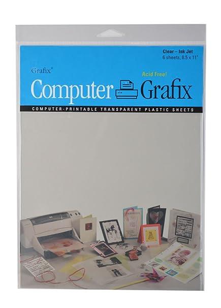 Amazon.com: Grafix Ink Jet Film, 8-1/2-Inch by 11-Inch, 6-Pack ...