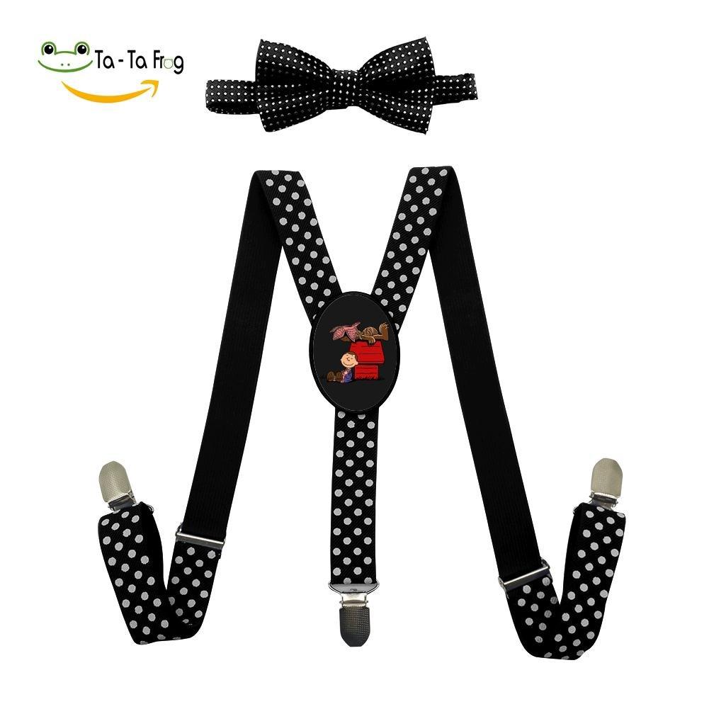 Grrry Children Stranger dogs Adjustable Y-Back Suspender+Bow Tie Black