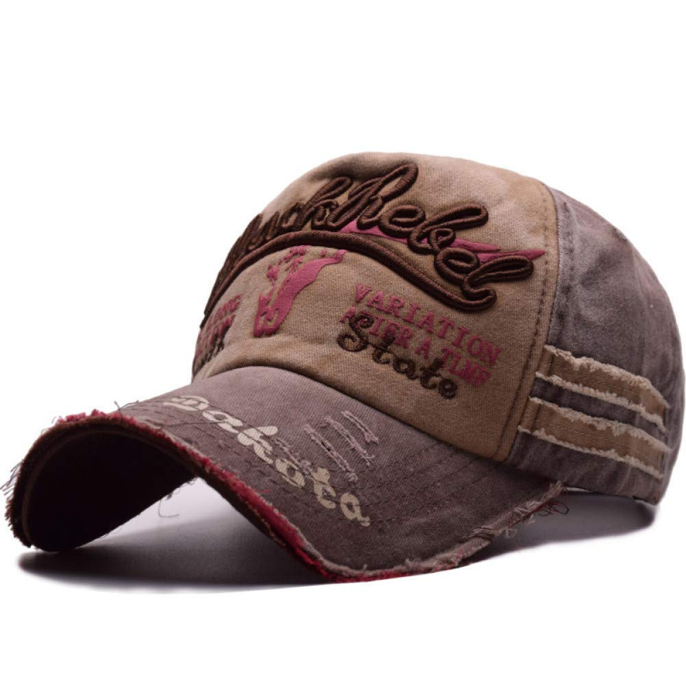 9454765a14e9 Coffee Adjustable Outdoor Sports hat Baseball Cap Unisex Cotton Vintage Baseball  Cap Letter Embroidery Fashion Sports
