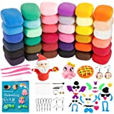 Holicolor Air Dry Clay 36 Colors Nontoxic DIY Magic Modeling Clay for Kids, with Sculpting Tools, Accessories, Project…