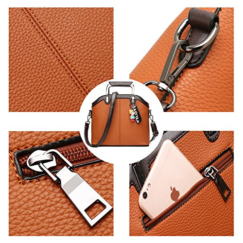 Ladies New Pu Bag Shell Leather Brown Girls Coolives Women's Shoulder For Fashion Handbags Bag PdxTwH