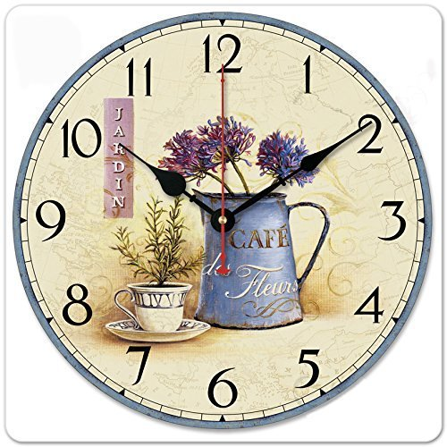 iCasso Vintage Inserting Flowers Non Ticking