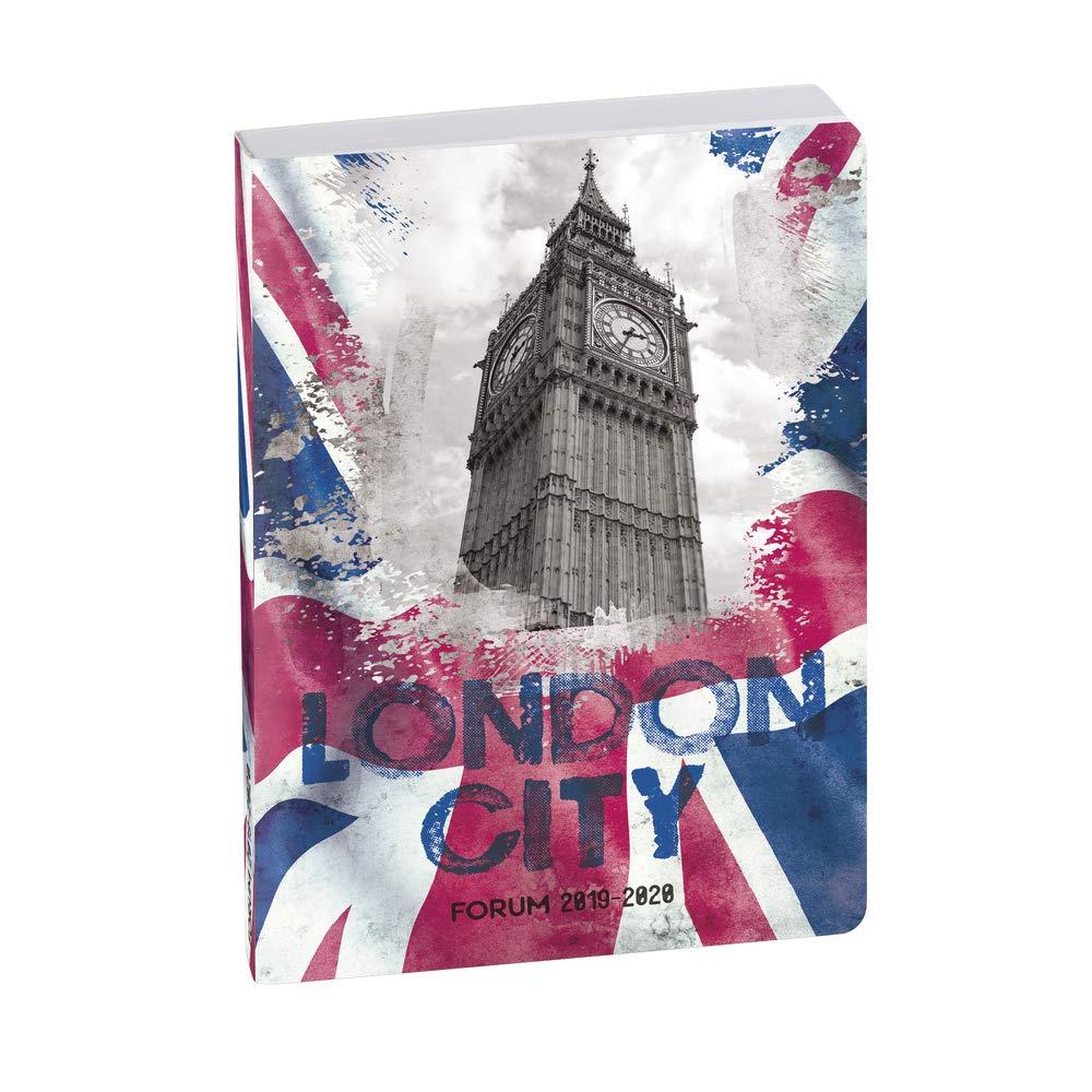 Country FlAgenda London Exacompta 1842910E Un Agenda 1 jour par page Forum 12x17 cm ao/ût 2019 /à juillet 2020