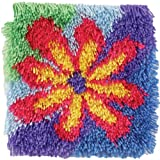 Shaggy Latch Hook Kit 12 Inch X 12 Inch -Flower Power