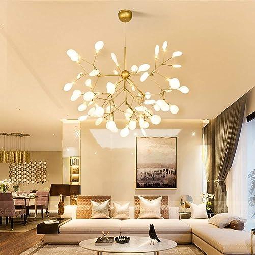 Modern Sputnik Pendant Light 63 LED Light Firefly Chandelier Ceiling Light Fixture G4 Bulb Suitable