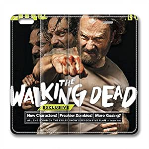 iCustomonline Leather Case for iPhone 6, The Walking Dead Rick Stylish Durable Leather Case for iPhone 6