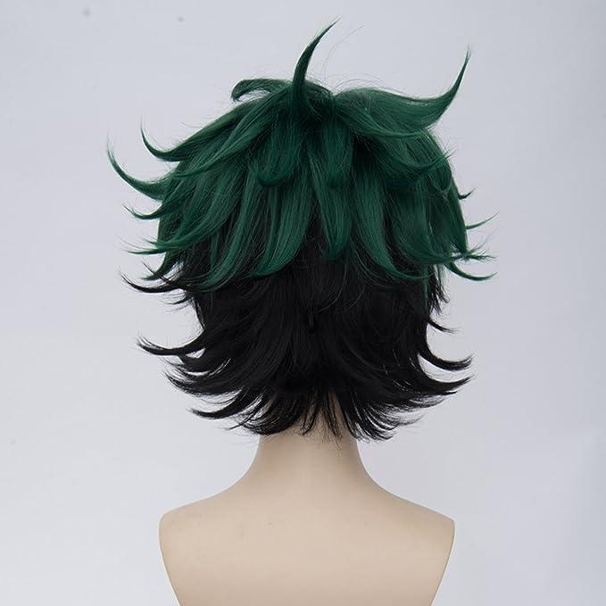 Onecos Anime Boku no Hero Academia midoriya Izuku peluca de pelo cosplay: Amazon.es: Juguetes y juegos
