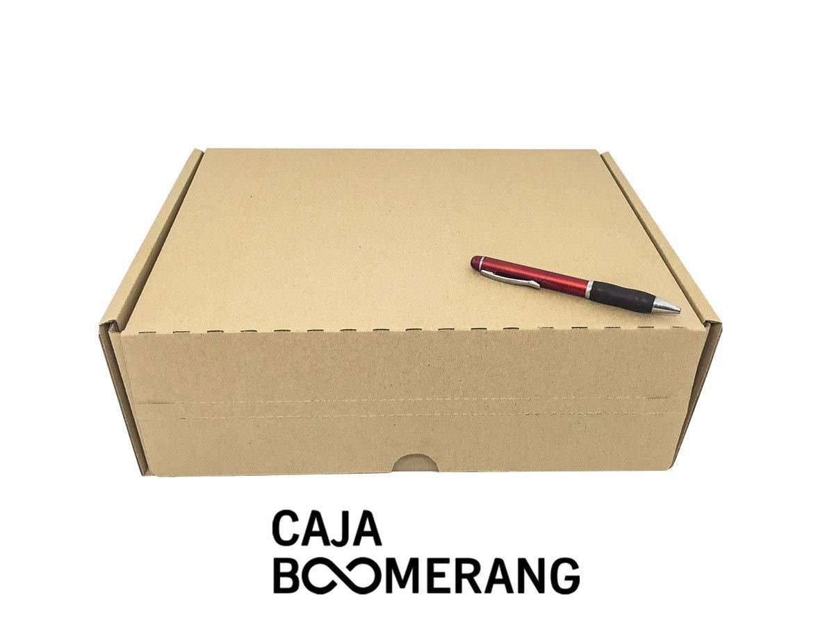 Caja de Cartón para Envíos (Caja Doble Envío) de 35 x 25 x 13 cm (Paquete de 10 Cajas) - Color Marrón. Permite Hacer Dos Envíos en Uno. Mudanzas. ...