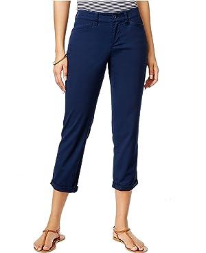 American Living Womens Twill Pants Capri Navy 14