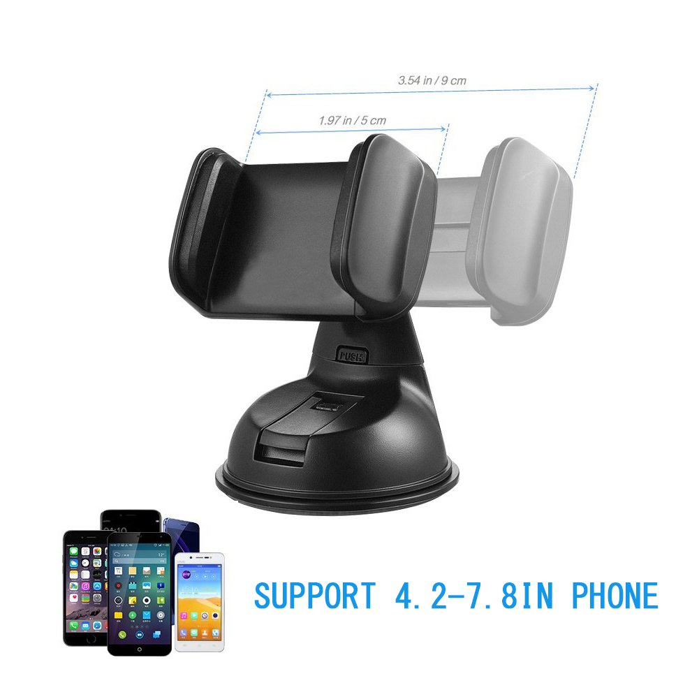 JINGJIA Car Phone Holder,/ Universal Car Air Vent Phone Mount Holder Cradle 360 Degree Rotation for iPhone 7//7 Plus,6s//6 Plus// Samsung Galaxy S8 S7 S6//LG//and more