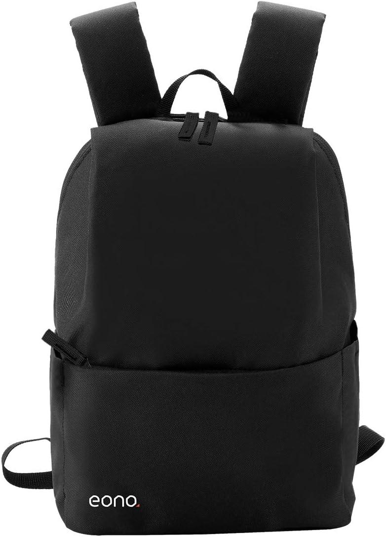Eono Essentials - Mochila Ultraligera Resistente al Agua, Ideal para Viajes y Actividades al Aire Libre, para Hombre, Mujer y niño (10 L) (Negro)