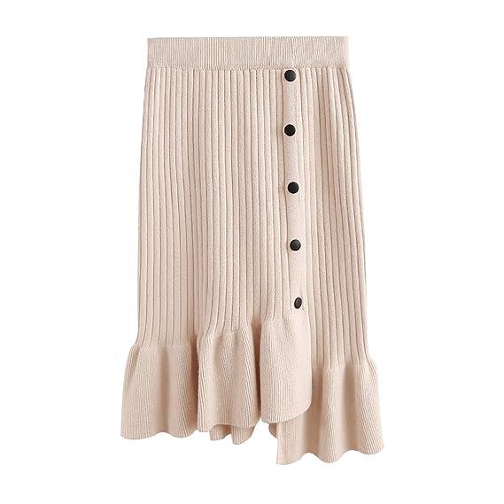EZSTAX Falda de Tejido Mini Falda de Punto Longitud hasta la ...